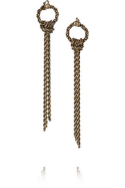 Lanvin Burnished gold-tone earrings