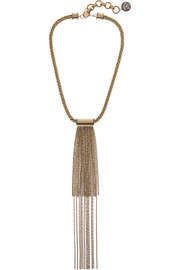 Gold and gunmetal-tone necklace