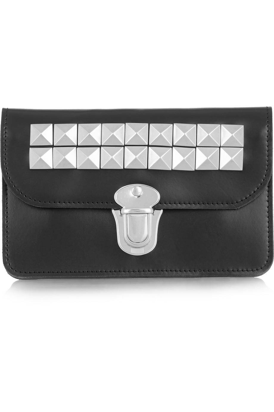 Studded Leather Wallet, Comme Des Garçons, Black, Women's