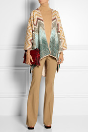 Missoni Crochet-knit wool wrap