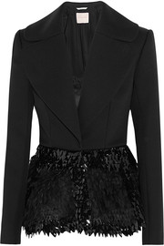 Calyton paillette-embellished silk, mohair and wool-blend jacket