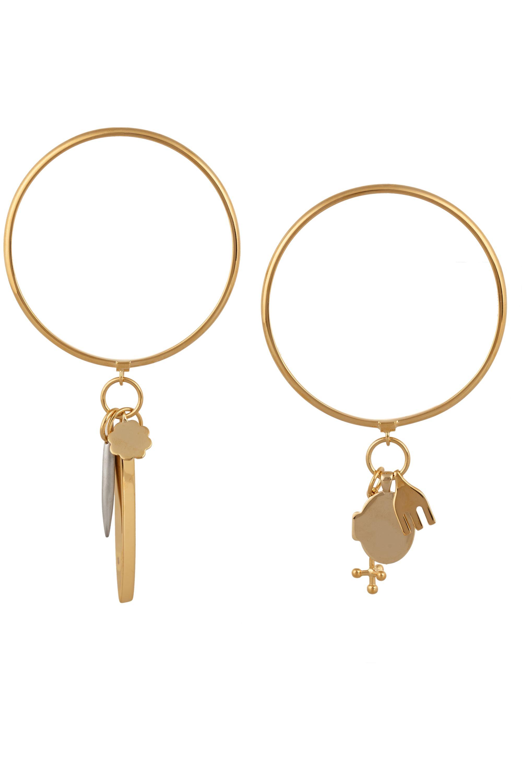 Chloé Set of two gold-tone charm bracelets