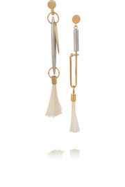 Harlow gold and sliver-tone feather earrings