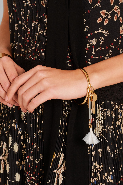 Chloé Harlow gold-tone feather bracelet