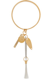 Harlow gold-tone feather bracelet
