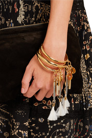 Chloé Harlow gold-tone feather bracelet