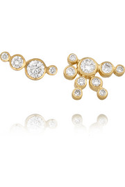 Flacon de Neige and Flacon Diamant 18-karat gold diamond earrings