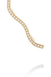 Ocean Diamant 18-karat gold diamond ear cuff
