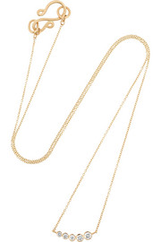 Lune 18-karat gold diamond necklace