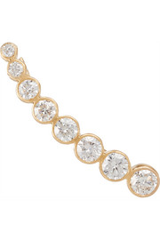 Croissant de Lune 18-karat gold diamond ear cuff
