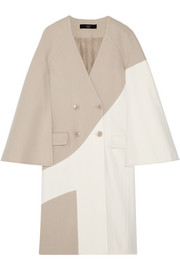 Siku two-tone wool-blend coat