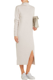 Turtleneck merino wool midi dress
