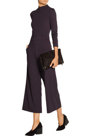 Cropped stretch-jersey wide-leg pants