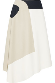 Siku color-block wool-blend midi skirt