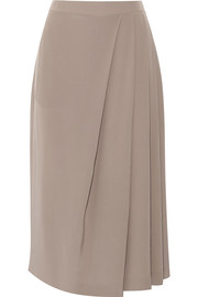 Draped silk crepe de chine culottes