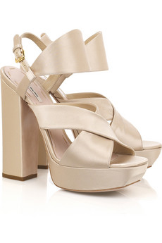 Miu Miu Satin platfrom pumps
