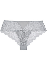 Caresse stretch-lace and jersey briefs