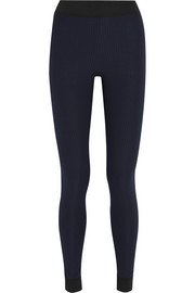 Rae ribbed stretch-jersey leggings