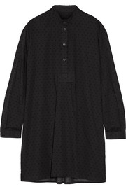 Swiss-dot cotton-voile nightshirt
