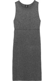 Split-side ribbed wool tunic