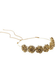 Jennifer Behr Contessa Swarovski crystal-embellished gold-plated headband