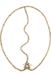 Jennifer Behr Thea Swarovski crystal-embellished gold-plated headband