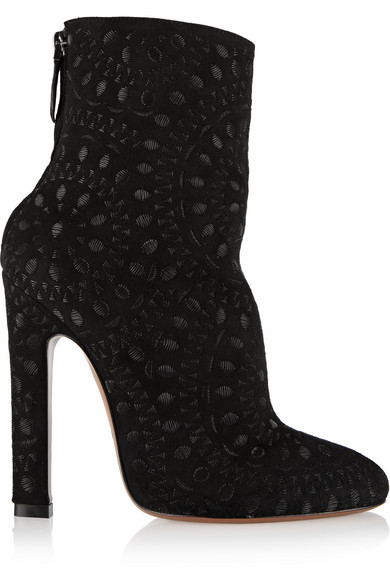 outlet tumblr Alaïa Suede Embroidered Boots sale fashion Style shop cheap price outlet exclusive MVhRK