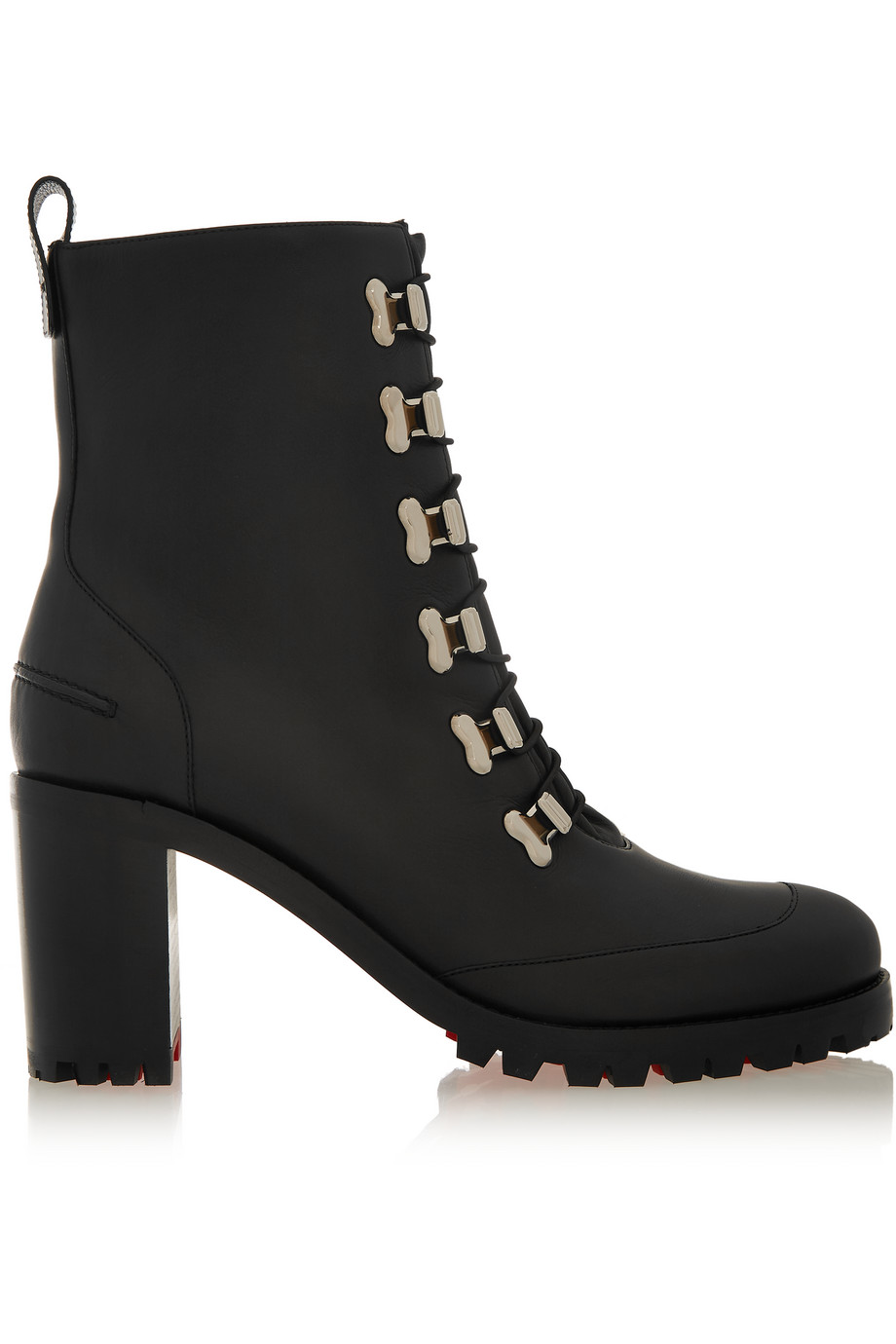 Christian Louboutin Country Croche 70 Leather Boots, Black, Women's US Size: 4, Size: 34.5