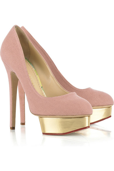 2097c40b633 Charlotte Olympia. Dolly canvas platform pumps