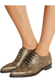 Metallic suede brogues