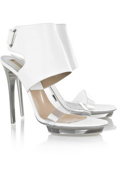 Michael Kors | Leather and perspex sandals | NET-A-PORTER.COM from net-a-porter.com