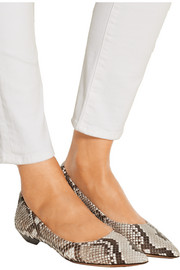 Python point-toe flats