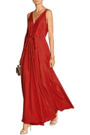 Washed silk-satin gown