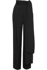 Crepe de chine wide-leg pants