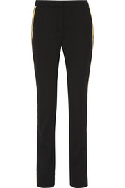 Wool-gabardine straight leg pants