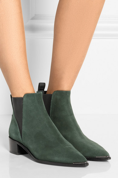 acne studios jensen suede ankle boots net a porter com. Black Bedroom Furniture Sets. Home Design Ideas