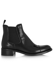 Nerina glossed-leather Chelsea boots