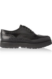 Church's Indigo glossed-leather platform brogues