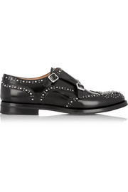 Lana Met monk-strap studded leather brogues