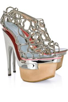 Versace Intrecciata metal platform sandals