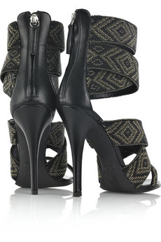 Balmain | Hand-beaded sandals | NET-A-PORTER.COM from net-a-porter.com