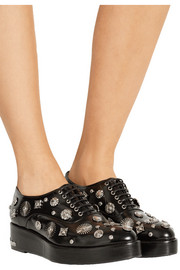 Pulla embellished leather brogues