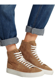Tournament suede high-top sneakers