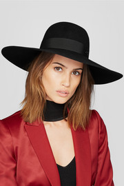 Blanche wide-brim rabbit-felt hat