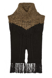Addition fringed cable-knit wool-blend sweater