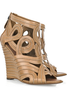 Alaïa Leather wedge sandals