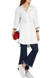 Cotton-poplin mini shirt dress