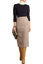 Fenel Trash wool-blend tweed midi skirt