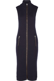 Benita ribbed wool midi dress