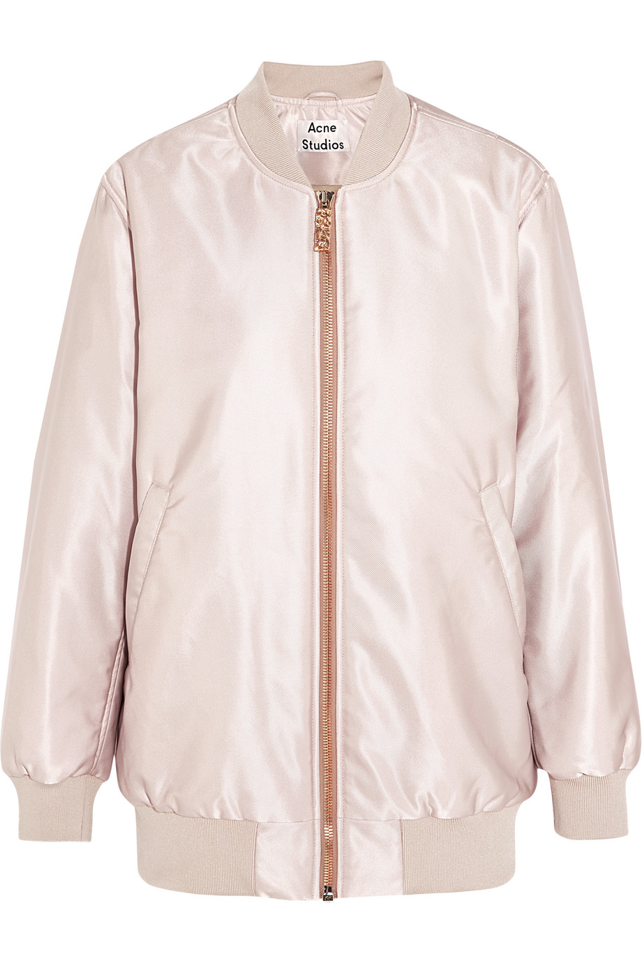 Acne Studios Selow Satin-Faille Bomber Jacket, Pink, Women's, Size: 40
